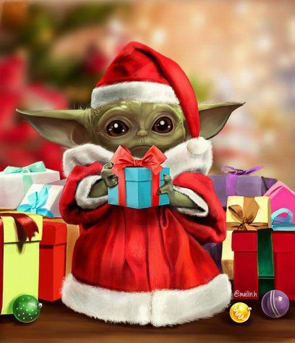 Santa An Interview Book Yoda Wallpaper Star Wars Christmas Merry Christmas Baby