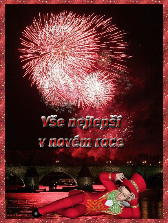 027 novoroční přání - nový rok