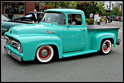 1956 Ford F100 Mint Green 56 Ford F100 Pinterest