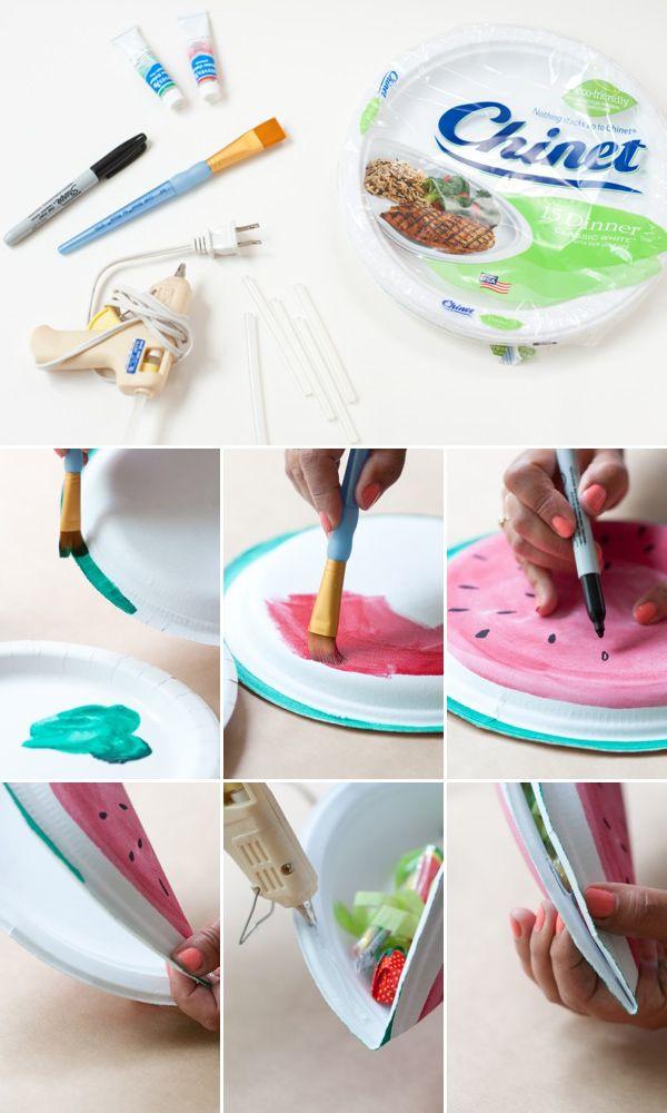 Tutorial sandía rellena de caramelos!! ideal para fiestas de peques!! #DIY #fiestas #niños #fácil