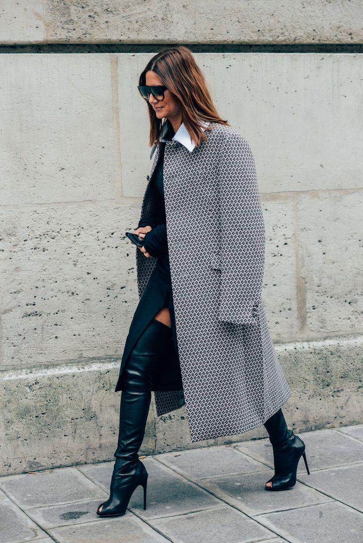 February 27, 2013 Tags Black, Prada, Sunglasses, Paris, Boots, Christine Centenera, Women, Grey, Prints, High Heels, Coats, 1 Person