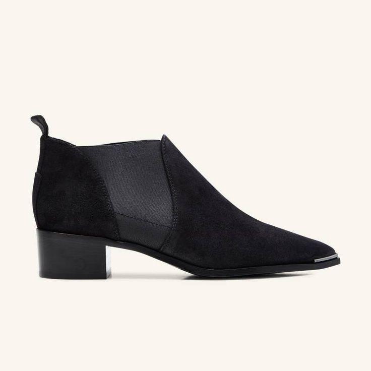 Acne Studios - Jenny Suede Boots - black