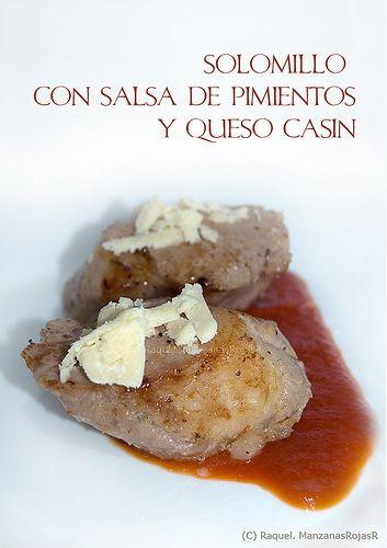 Solomillo con salsa de pimiento y queso Casín