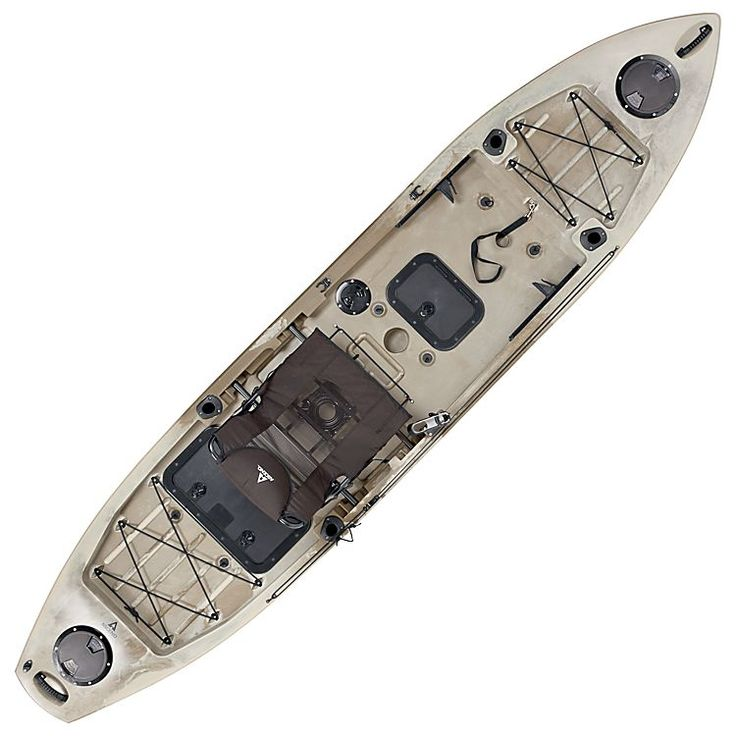 Ascend FS128T Sit-On-Top Angler Kayak - Desert Storm | Bass Pro Shops: The Best Hunting, Fishing, Camping & Outdoor Gear