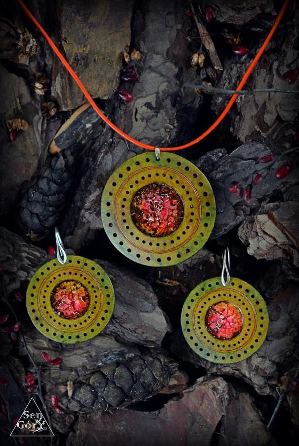 Ethno jewellery set by Sen Góry http://www.facebook.com/SenGory