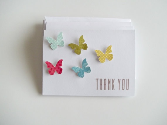 130 best invitationscard making images on pinterest cards craft butterfly card thank you hand stamped handcut by crazypaperlove 480 stopboris Images