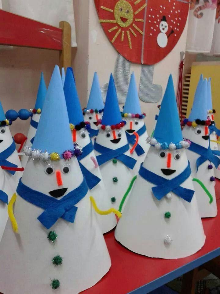 Sněhuláci - kornouty