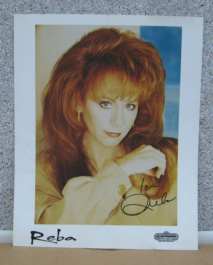 Reba! Signed 8 by 10.