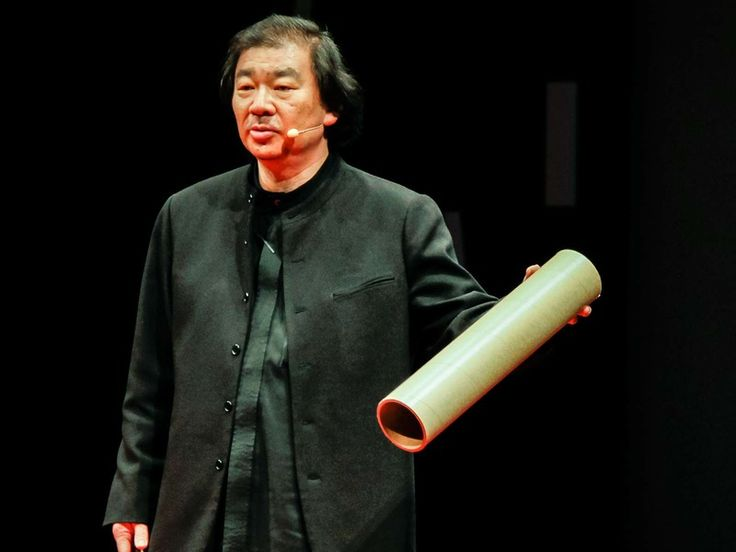 Most people look at cardboard tubes and see something fit for the recycling bin. But architect Shigeru Ban turns them into beautiful buildings.