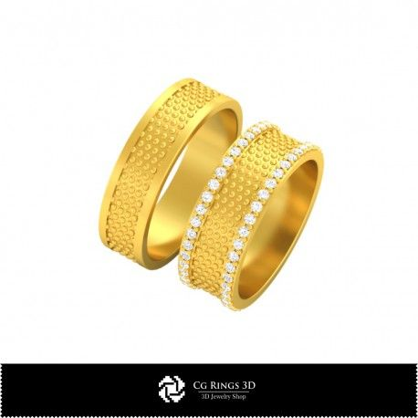 3D CAD Wedding Rings