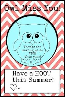 Owl Teacher Card