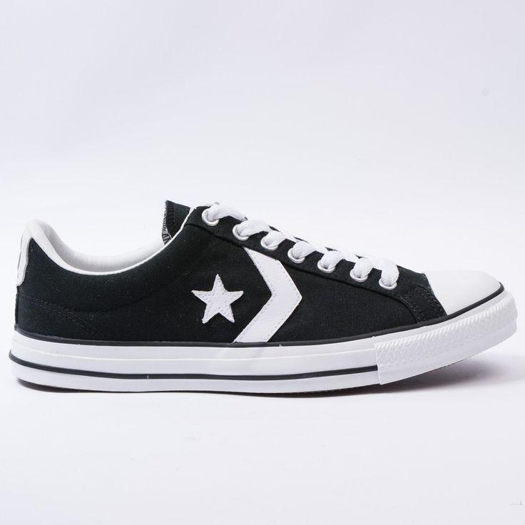 Converse star player ox (black/white)