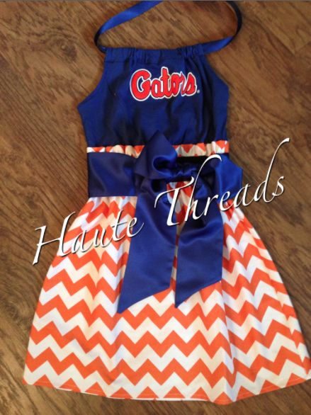 Florida Gators SEC Halter Gameday Dress made from YOUR favorite tee!  $60 - www.hautethreadsboutique.com