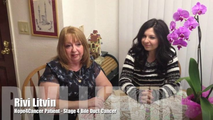 Rivi Litvin - Stage 4 Bile Duct Cancer -surgery success but metastasis in liver and recide BUT refused chemo Used natural way and  cured . Rivi's 2-week treatment program included the following major treatments:  Sono-Photo Dynamic Therapy, Vitamin C IV Therapy, B-17 Laetrile Therapy, Hyperthermia (Regional and Whole Body), Near Infra Red Light Therapy, Ondamed energy medicine, Pulsating Electromagnetic Field (PEMF) Therapy, Coffee Enema, nutrition and targeted supplements.