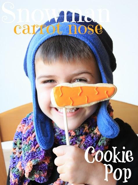 Munchkin Munchies: Snowman Carrot Nose Cookie Pop