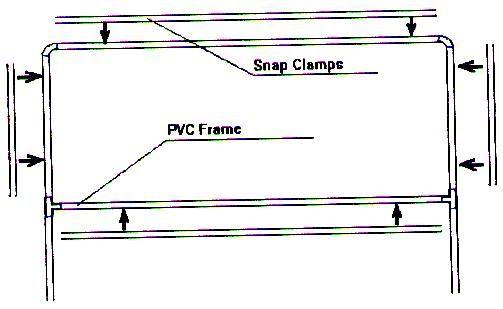 pvc banner holder