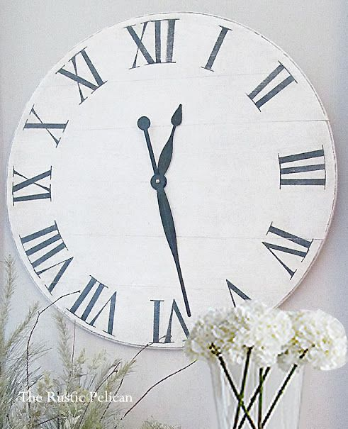 Large Clock Rustic Wood Large Wooden Wall Clock  di RusticPelican
