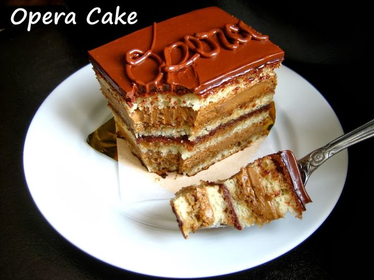 Home Cooking In Montana: Opera Cake... with recipe for joconde almond cake and French/Swiss buttercreams.