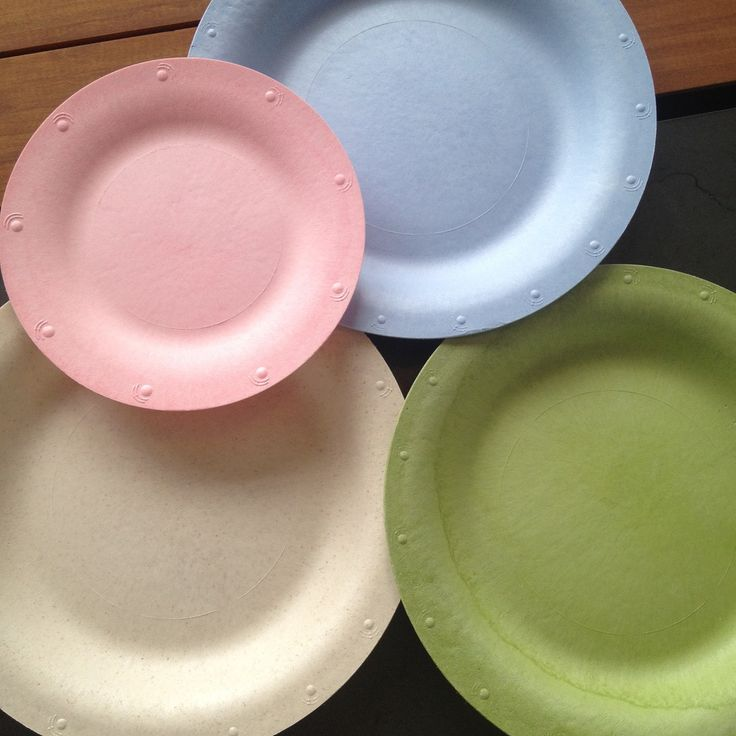 10  Colorful Susty Party Compostable Starch Plates. Theyu0027re disposable durable NON-TOXIC renewable and sturdy. AND since theyu0027re dyed naturallu2026 & 10