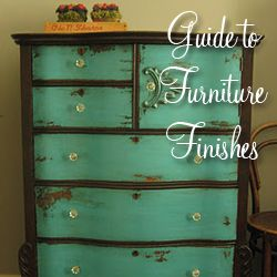 """How to"" on refinishing furniture in distressed finishing etc."