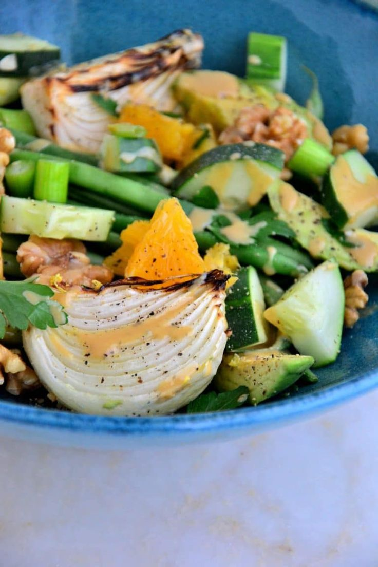 French Green Bean Salad with Roasted Onions