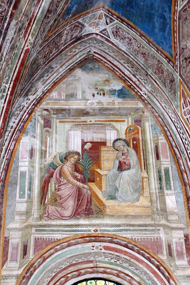 Cenni di francesco, cappella della croce di giorno, 1410, stroie di cristo nell'abside, annunciazione.JPG