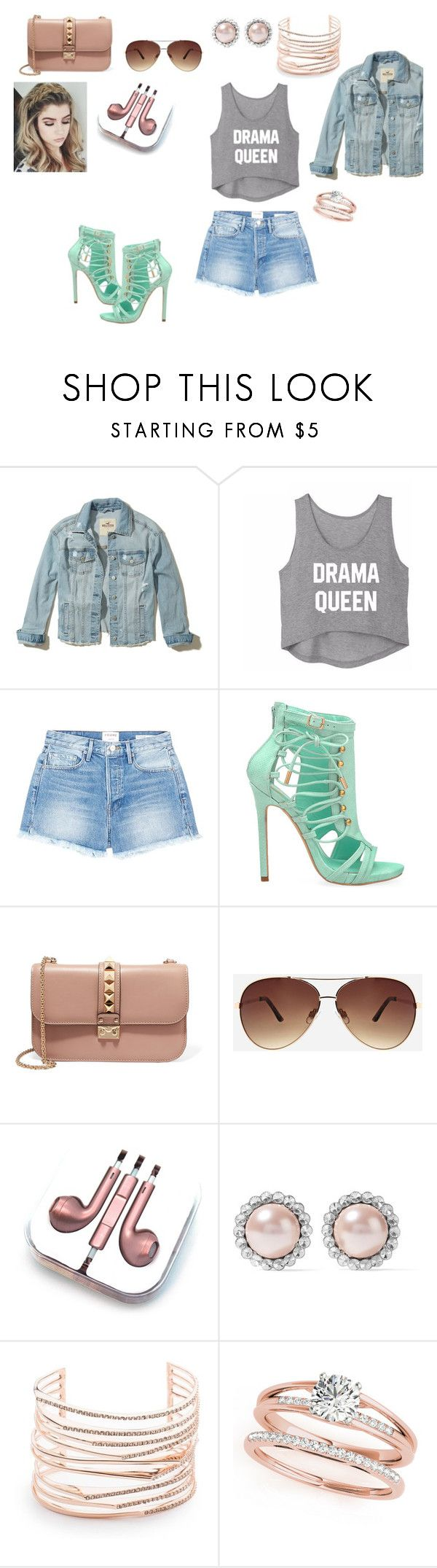 """Caitlin"" by allihelms on Polyvore featuring Hollister Co., Frame, Privileged, Valentino, Ashley Stewart, PhunkeeTree, Miu Miu and Alexis Bittar"