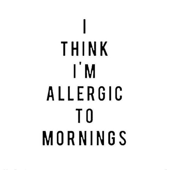 #Mornings #Sleepy