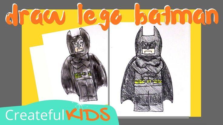how to draw batman lego