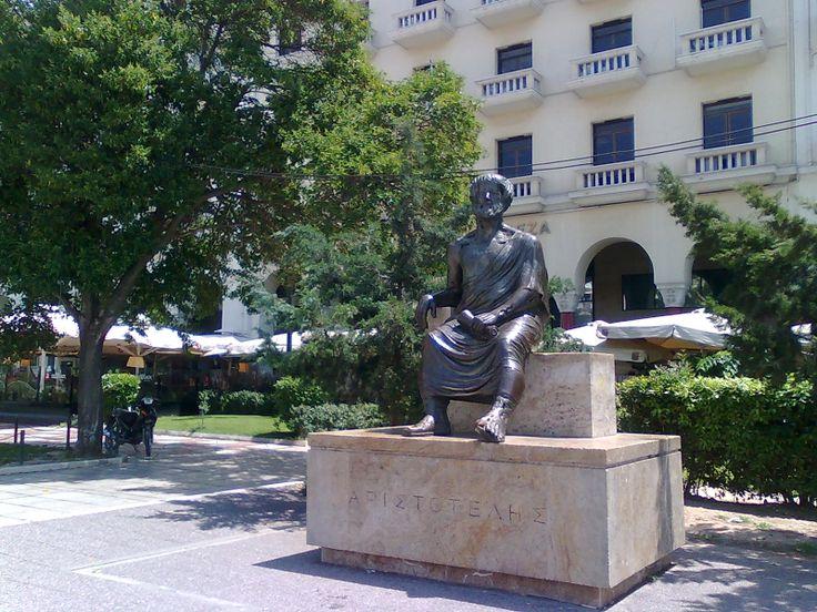 Aristotle Statue in Square Aristotelous