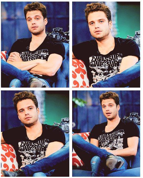Sebastian Stan | he's so cute like gaaaaah. He was so adorable in the pictures of his girlfriends surprise birthday party