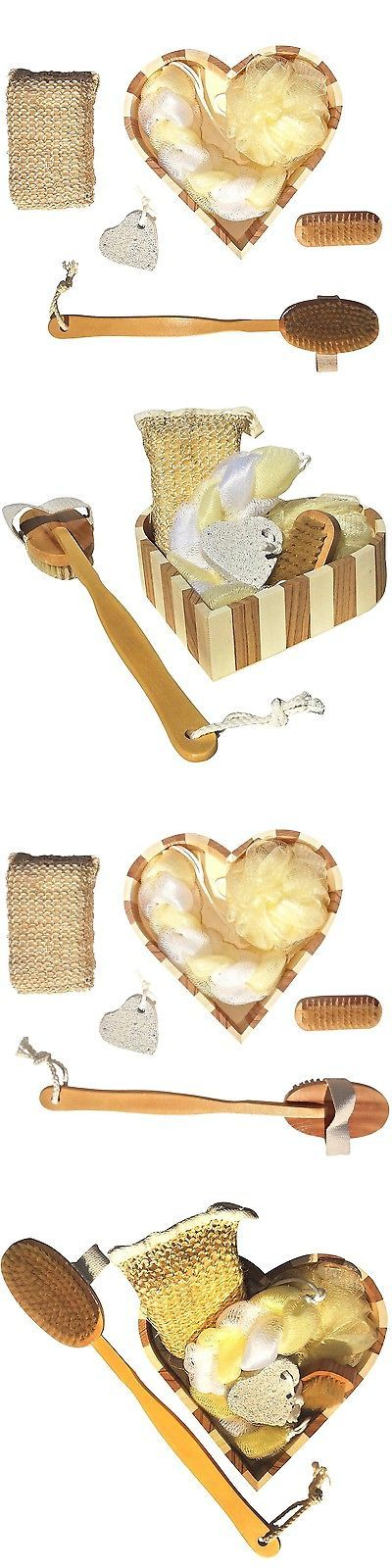 Bath Brushes and Sponges: Perfect Heart Shaped Bath Set Back Loofah Luffa Spa Best Unique Cool Back To ... -> BUY IT NOW ONLY: $35.82 on eBay!