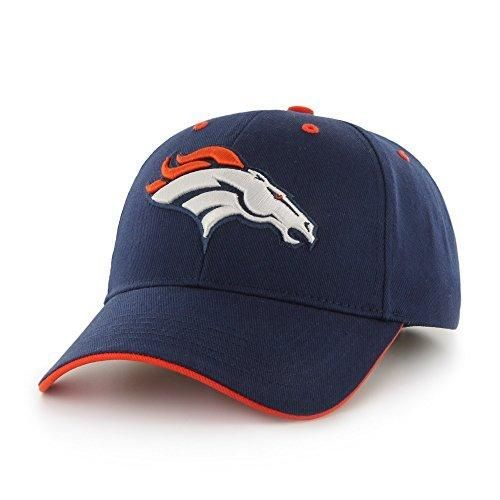 Mens NFL Broncos Cap Football Themed Hat Embroidered Team Logo Sports Patterned Team Logo Fan Athletic Team Spirit Fan Comfortable Blue Orange White Heavy Twill