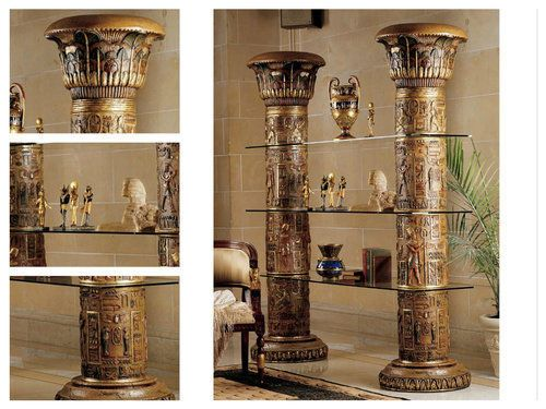 Ancient-Egyptian-Art-Furniture-Unique-Home-Etagere-Display-Decor-Column-Replica
