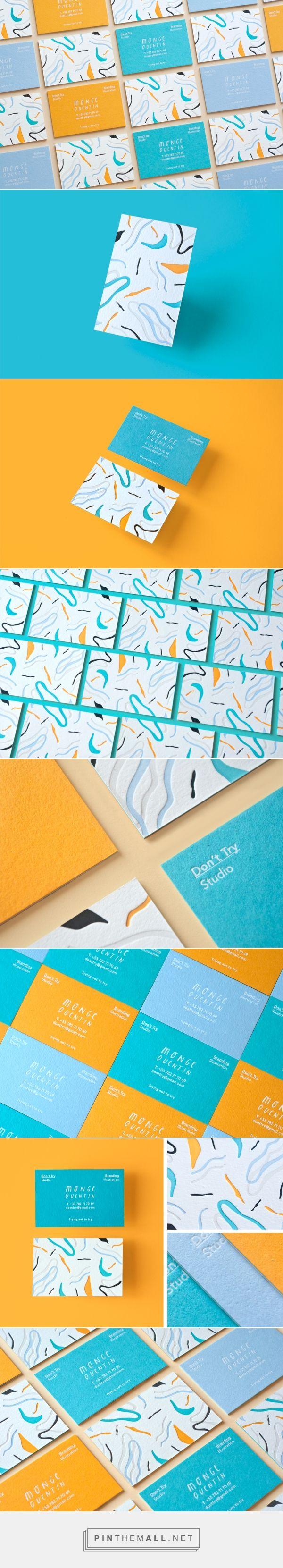 Don't Try Studio - Business Cards on Behance | Set of colorful business cards. White foil / 5 color letterpress on triplex colorplan paper.