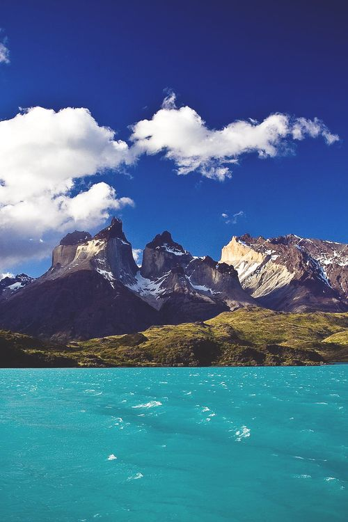 Torres del Paine National Park, Chile is filled with mountains, rivers, glaciers and lakes.
