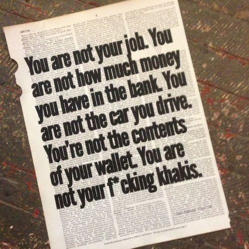 Ehi, ho trovato questa fantastica inserzione di Etsy su https://www.etsy.com/it/listing/234105786/stampa-darte-tu-non-sei-il-tuo-lavoro