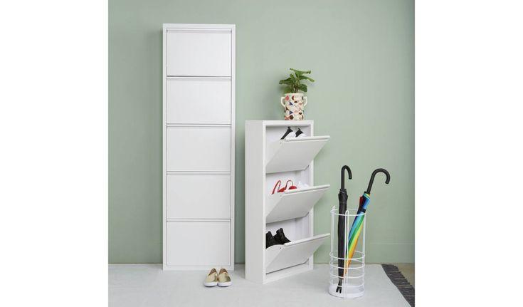 Daxton 5 Level White Metal Shoe Storage Buy Now At Habitat Uk