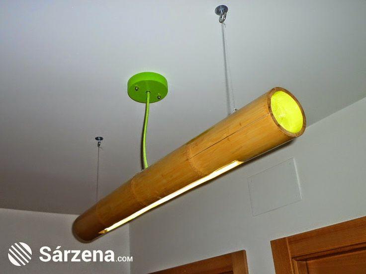 Sencilla lámpara de bambú.