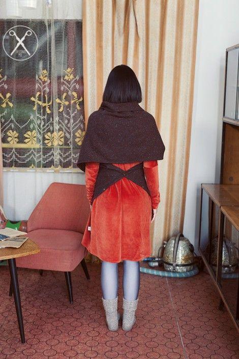 Oversized brown woolen scarf/ sweater/ hood/transformer | A/W 15/16 | Second ME | www.secondme.eu