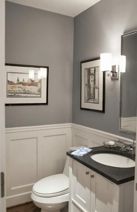 Half Wall Wood Paneling: Trendy Half Wood Walls Paneling Small Bathrooms 23 Ideas