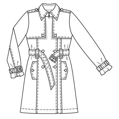 Burdastyle 03-2009-119 Trench coat, 34-44