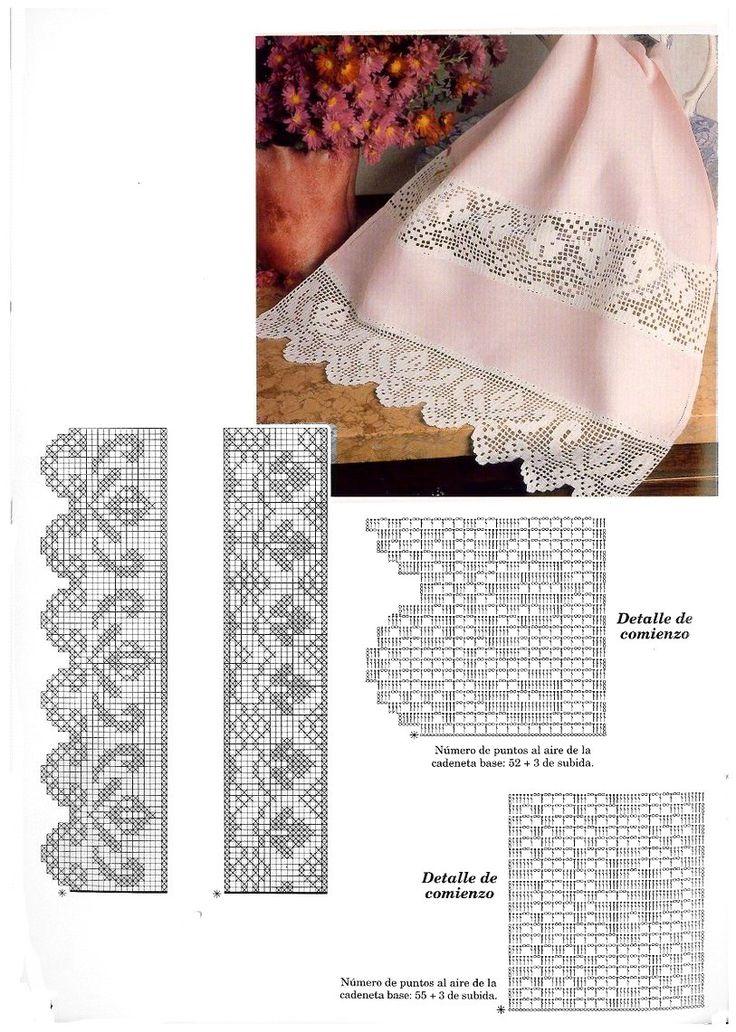 MIRIA CROCHÊS E PINTURAS: BARRADINHOS DE CROCHÊ FILÉ N°300