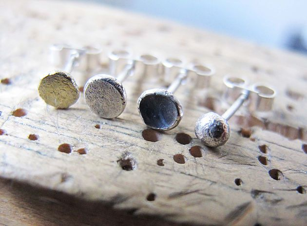 Rustic stud earrings - single stud earrings - men's fashion - men's gift - jewellery