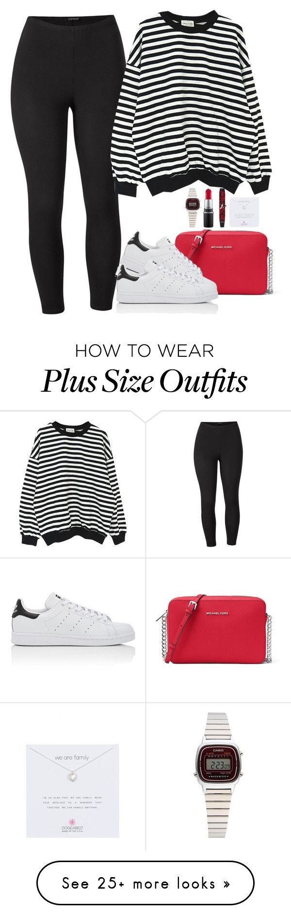 """""""Untitled #1169"""" by karlamichell on Polyvore featuring MICHAEL Michael Kors, Venus, adidas, WithChic, Casio, MAC Cosmetics, Physicians Formula, Dogeared and plus size clothing"""