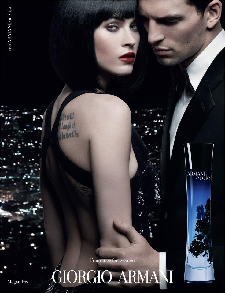 Armani Code Woman by Giorgio Armani with Megan Fox.