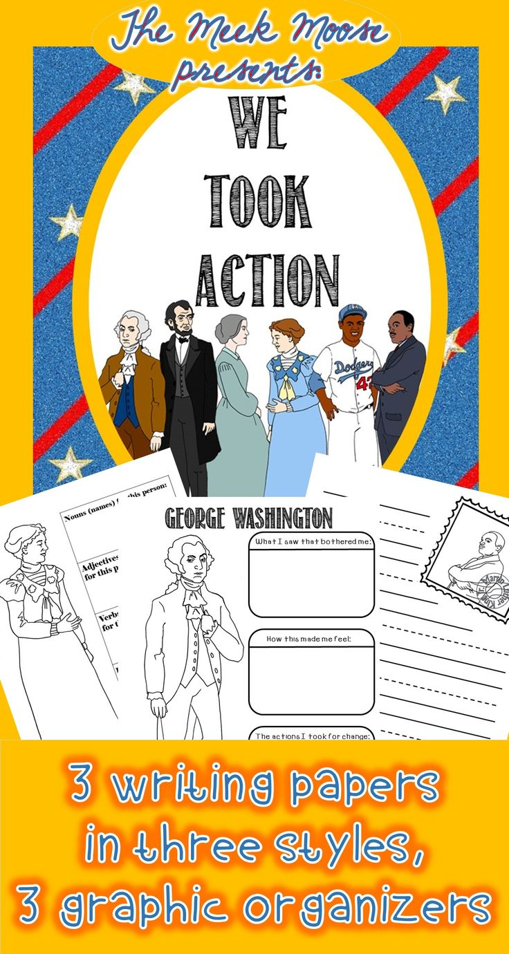 #socialstudies #ibpyp #graphicorganizer #cinquain #GeorgeWashington #AbrahamLincoln #SusanBAnthony #HelenKeller #JackieRobinson #MLK A variety of formats available to assist kids in writing about these Famous Americans.