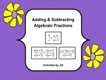 math worksheet : adding and subtracting algebraic fractions practice  algebraic  : Adding And Subtracting Algebraic Fractions Worksheet