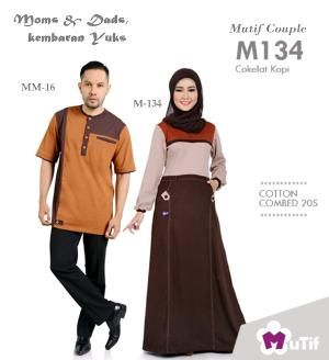 Sarimbit Moms & Dads Mutif Couple M-134 Cokelat