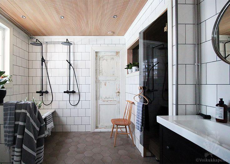 My bathroom. Showers Tapwell, floor tiles Ragno Rewind Argilla.